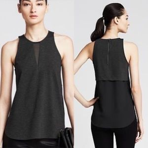 Banana Republic Mixed Media Cutaway Tank Top Small